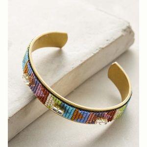 Anthropologie continuum beaded cuff bracelets