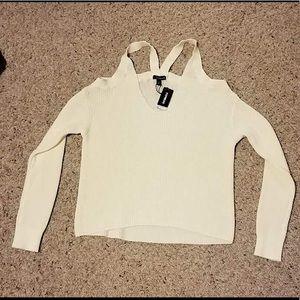 Express cold shoulder sweatshirt.