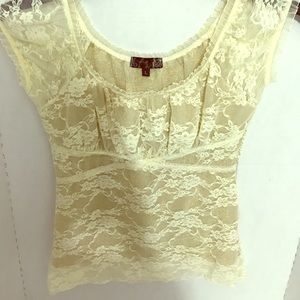 Mandee Lace Top Size Large