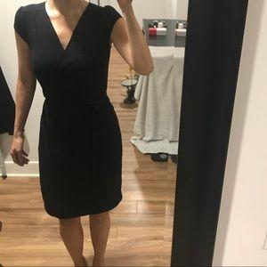 Classic Short Sleeve Wrap Dress