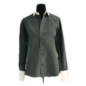 Ralph Lauren gray stripe button down shirt