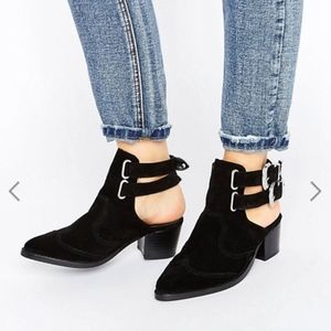 ASOS RIVA Leather Western Boots