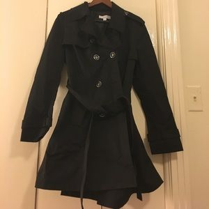 New York & Co XL black trench coat