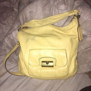 coach kristin leather crossbody bag