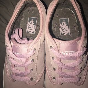 dedccd3447 Vans Shoes - Pink suede Atwood style vans