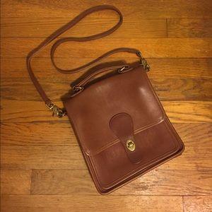 Vintage Coach saddle cross body purse