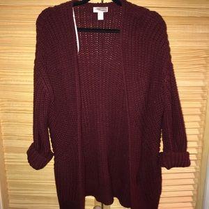 F21 chunky knit sweater