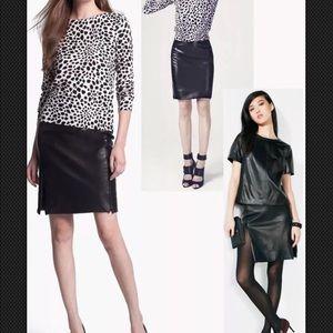 NWT $498 SZ12 Diane Von Furstenberg  Leather Skirt