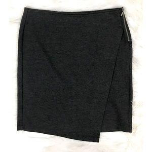 Cabi Gray Stretch Asymmetrical Pencil Skirt