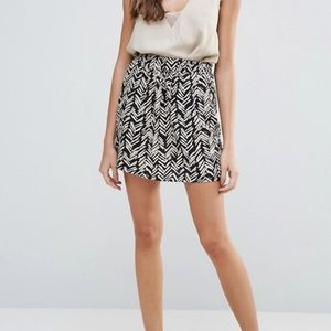 ASOS Brave Soul Printed Mini Skirt