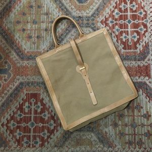 Handbags - Vintage Tan American Made Laptop Bag