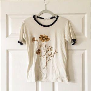 70's inspired flower t-shirt
