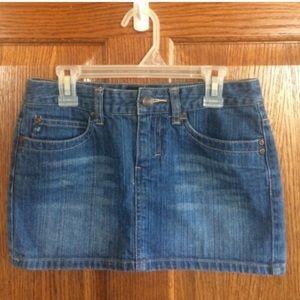 Mini Jean Denim Skirt Size 00 Aeropostale Fall