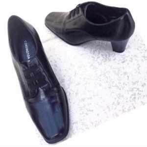 ❣BOGO 1/2 off❣🆕Black slip on booties heels 7