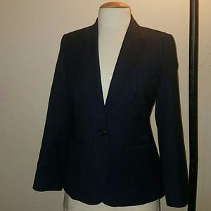 J.Crew Navy Pinstriped Wool Blazer