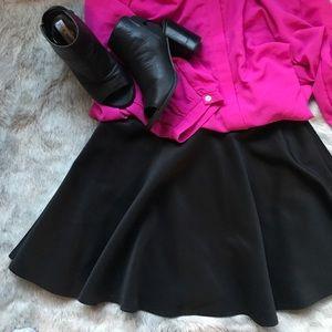 Scuba-knit mini skater skirt