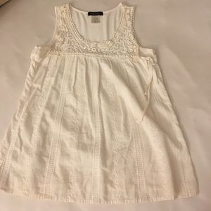 Nordstrom white lace peasant tank.