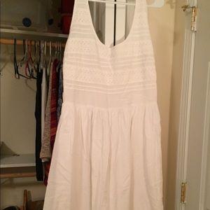 White old navy tank top dress.