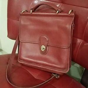 Vintage red Coach crossbody