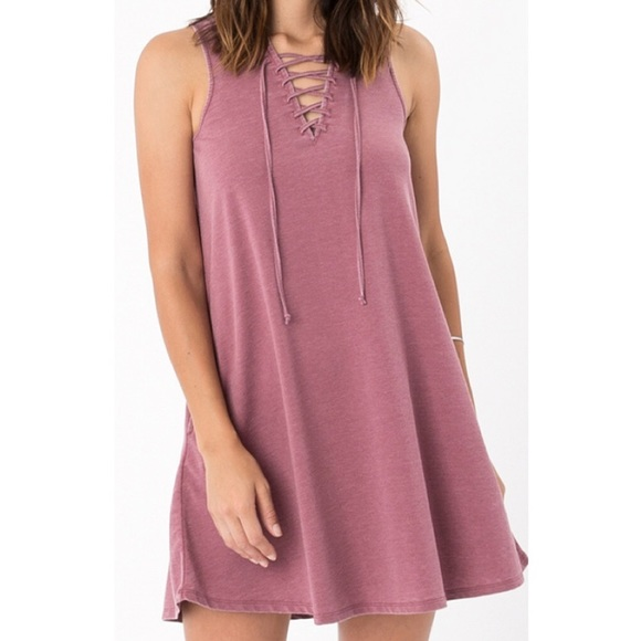 Z Supply Dresses & Skirts - Z Supply Lace Up Dress in Rosewood