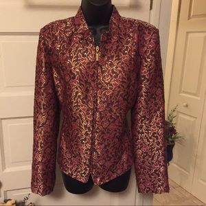 Women's size 12 blazer Chadwicks sexy red gold