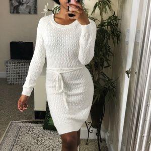 H&M White Sweater Dress