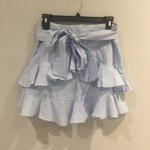 NWT TOPSHOP blue and white striped Skirt US 6