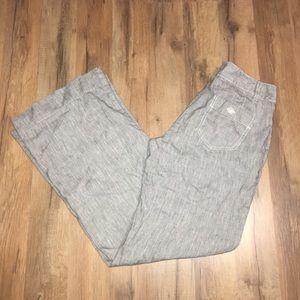 CALVIN KLEIN linen blend dressy career trouser