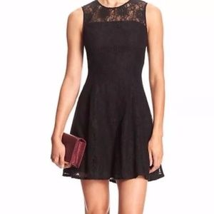 Banana Republic Black Lace Sleeveless Dress Size 0