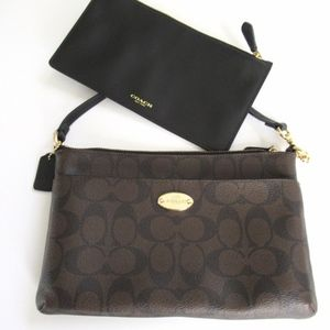 Authentic Coach Signature Mini Bag with Wallet