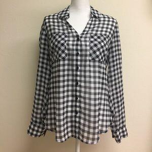 Black and white Portofino shirt