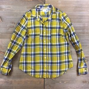 Old Navy Flannel Plaid Button Down