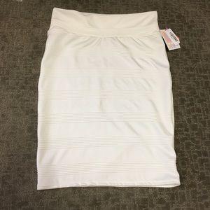 LuLaRoe solid white Cassie skirt