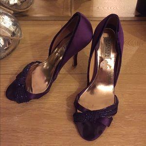 Badgley Mischka Purple Open Toe Heels