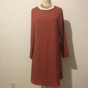 H&M ANN TAYLOR  CHIFFON LINED SHIFT DRESS SIZE 10