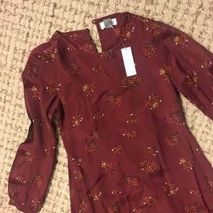 Boho style maroon dress