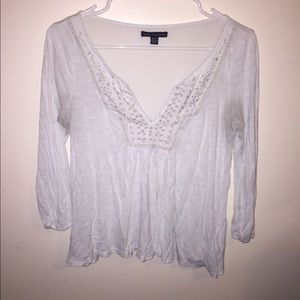 American Eagle quarter sleeved tee- extra small