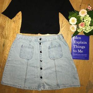 URBAN OUTFITTERS BDG denim button front skirt