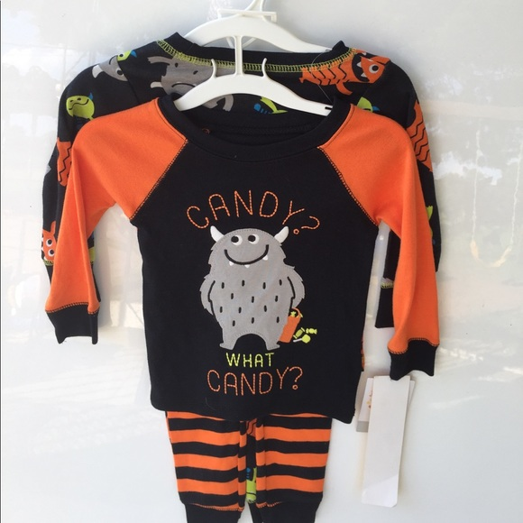 what candy halloween pajamas infant size 12 18 m