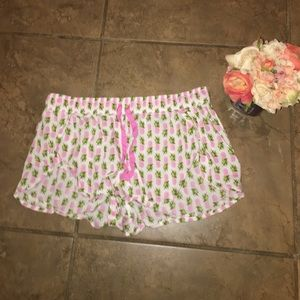 Victoria Secret pineapple pink and white shorts