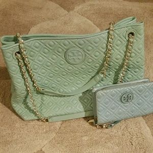 Tory Burch quilted Marion with wallet