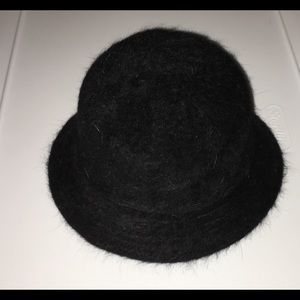 Angora soft brim hat, black Lorenzo