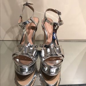 Aldo Silver Platform Chelly Tribute Sandals