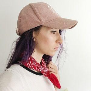 Free People Take It Easy Corduroy Pink Hat