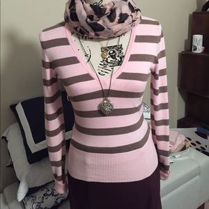 H&M Divided stripe light sweater - size 4
