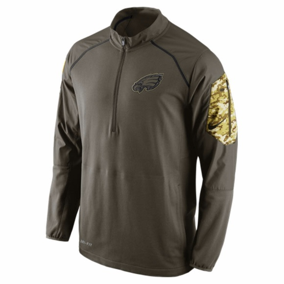 Nike Philadelphia Eagles 1 4 Zip Salute to Service 387db6575
