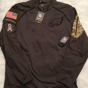 outlet store d6687 65ec9 Nike Philadelphia Eagles 1/4 Zip Salute to Service NWT