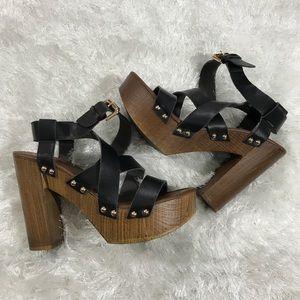 Women's Mossimo Chunky Heel Studded Sandals New