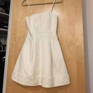 Lilly Pulitzer white strapless dress