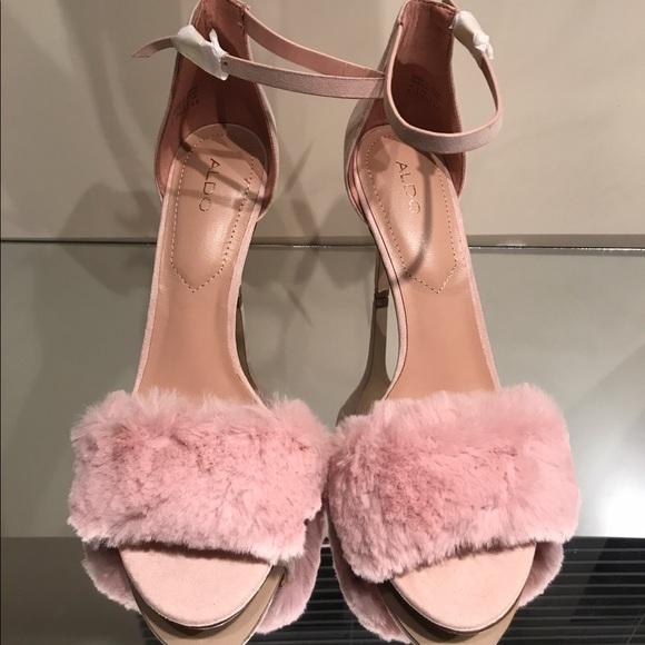 656091db884 Aldo Lalisa Pink Furry Sandal